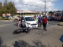 ÇETİN EMEÇ - Ticari Araç, Motosiklete Çarptı Açıklaması 1 Yaralı