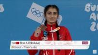 TAŞPıNAR - Yaz Gençlik Olimpiyat Oyunlarında Halterciler Tarih Yazdı