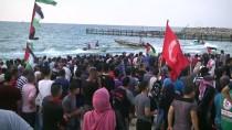 YAŞAM MÜCADELESİ - Gazzeliler, İsrail Ablukasının Kaldırılması Talebiyle Sahile Akın Etti