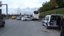 SABİHA GÖKÇEN HAVALİMANI - Servis Otobüsüne Arkadan Çarpan Otomobilin Sürücüsü Ağır Yaralandı