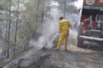 KUZUCULU - Amanoslardaki Orman Yangınını Soğutma Çalışması Sürüyor