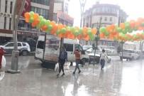 GÜNEŞLI - Hakkari'deki Sağanak Yağış