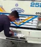 KONTROL NOKTASI - Kamyonun Plakasını Tıraş Köpüğüyle Kapatan Sürücü Yakalandı