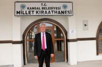 Kangal'da 'Millet Kıraathanesi'nin Yapımı Tamamlandı