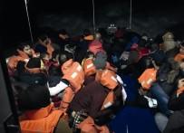 KAÇAK GÖÇMEN - Didim'de 35'İ Çocuk 80 Kaçak Göçmen Yakalandı