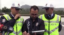 KARADENIZ SAHIL YOLU - Hatalı Sürücüler 'Drone'dan Kaçamadı