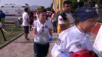 İDRIS KAYA - Otelin Çatısına Düşen Paraşütçü Yaralandı