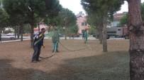 YENI CAMI - Burhaniye' De Parklara Son Sistem Çimlendirme Yapılıyor