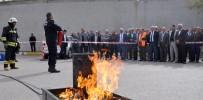 YANGIN TATBİKATI - Eski'de Yangın Tatbikatı Yapıldı