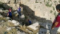 Kayalıklarda Mahsur Kalan Keçi Kurtarıldı
