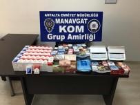 SARıLAR - Manavgat'ta Bir İşyerinde Kaçak Nargile Tütünü Ele Geçirildi
