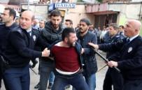 İLGİNÇ GÖRÜNTÜ - Erzurum'da İki Grup Arasında Bıçaklı Kavga Açıklaması 3 Yaralı