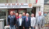 EMEKLİ ASTSUBAYLAR DERNEĞİ - Kaymakam Çalık, TEMAD'ı Ziyaret Etti