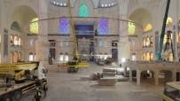 ÇAMLıCA - (Özel) Çamlıca Camii'ne Devasa Avizenin Yerleştirilmesi Drone İle Görüntülendi