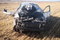 Aksaray'da Otomobil Tarlaya Devrildi Açıklaması 1 Yaralı