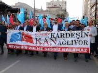 Nevşehir'de Doğu Türkistan İçin Yürüyüş Düzenlendi