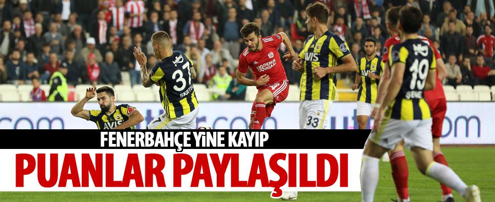 Fenerbahçe yine puan kaybetti