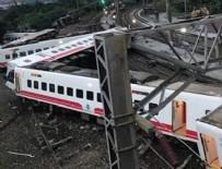 TAYVAN - Tayvan'da yolcu treni raydan çıktı: 17 ölü