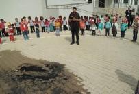 YANGIN TATBİKATI - Okulda Yangın Tatbikatı Gerçeği Aratmadı