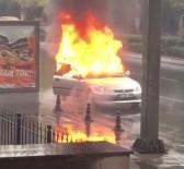 TÜRK HAVA KURUMU - Seyir Halindeki Araç Alev Alev Yandı