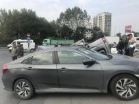 OKMEYDANı - Şişli'de Araç Takla Attı Açıklaması 2 Yaralı