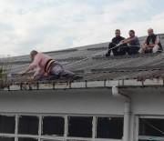 Çatı Ustasının Aldığı Önlem 'Pes' Dedirtti