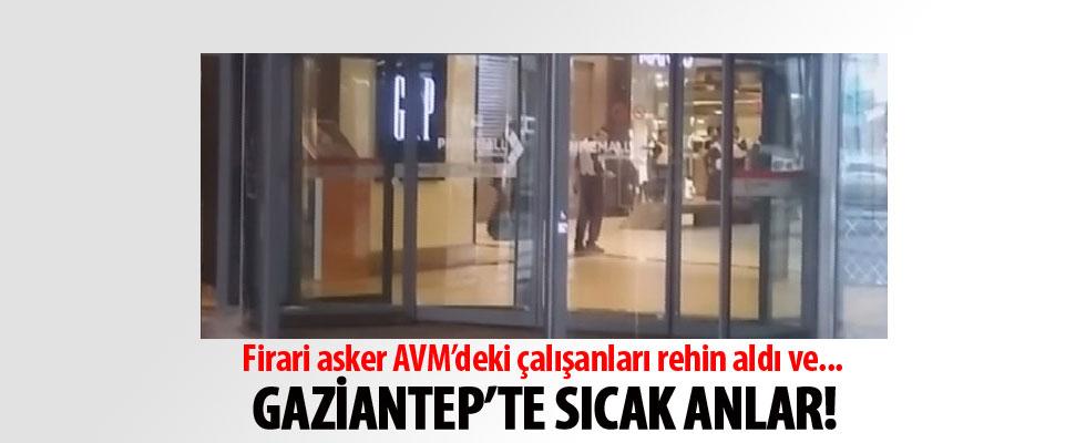 AVM'deki çalışanları rehin alan firari asker ikna edildi