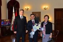 ANKARA VALİSİ - Ankara Valisi Topaca, PTT Başmüdürü Kaya'yı Kabul Etti