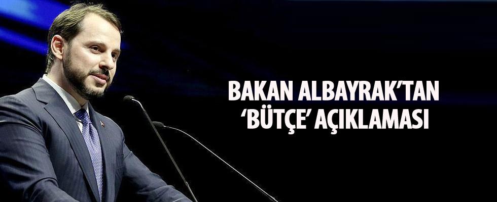 Bakan Albayrak'tan 'bütçe' açıklaması