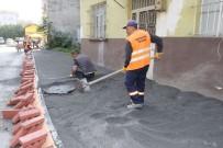 KALDIRIM ÇALIŞMASI - Gazipaşa Mahallesi'nde Kaldırım Çalışmaları