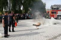 OKUL MÜDÜRÜ - Kulu'daki Ortaokulda Yangın Tatbikatı Yapıldı