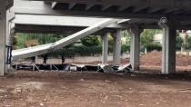 AVM İnşaatında Beton Blok Düştü Açıklaması 2 Yaralı