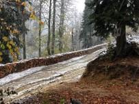 Yenice Ormanlarına İlk Kar Düştü