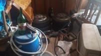 İçki Fabrikasına Dönüştürülen Eve Baskın