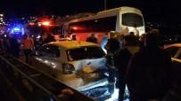TEM OTOYOLU - Tem Otoyolunda Zincirleme Trafik Kazası Açıklaması 14 Yaralı