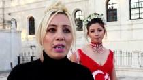 SIVAS KONGRESI - Cumhuriyet Bayramı'na Özel Türk Bayraklı Gelinlik Tasarladı