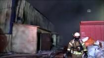 MIMARSINAN - İstanbul Hadımköy'deki Geri Dönüşüm Deposunda Yangın