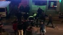 ARBEDE - (Özel) Arnavutköy'de Asker Uğurlaması Yapan Grupla Polis Arasında Arbede