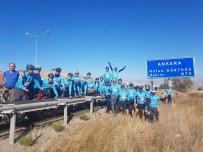 5 Günde 400 Kilometre Pedal Çevirip Ankara'ya Çıkarma Yaptılar