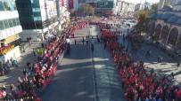 TÜRK HAVA KURUMU - Gaziosmanpaşa'da 29 Ekim Coşkusu Havadan Görüntülendi