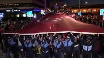 ALSANCAK - İzmir'de 350 Metre Uzunluğunda Türk Bayrağı Açıldı