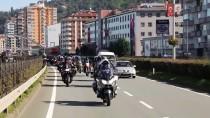 KARADENIZ SAHIL YOLU - Motosikletlerle 'Cumhuriyet Bayramı' Korteji
