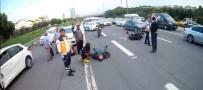 SEYRANTEPE - (Özel) TEM Otoyolunda EDS'den Kaçan Sürücü Motosiklete Çarptı Açıklaması 1 Yaralı