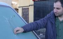 Ardahan'da Araçların Camları Buz Tuttu