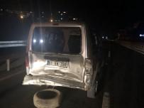Otomobile Arkadan Çarptı Açıklaması 1 Yaralı