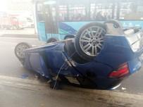 LÜKS OTOMOBİL - Avcılar'da Lüks Otomobil  Takla Atıp Yan Yola Uçtu