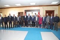 Vali Tekinarslan'dan  Belediyeye Veda Ziyareti