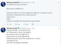 MUHARREM USTA - Muharrem Usta'dan Sert Açıklama