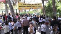 GAZİANTEP HAYVANAT BAHÇESİ - Şempanze 'Can' Çocuklarla Buluştu