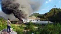 Trabzon'da Süt Ürünleri İmalatı Yapan Bir Fabrikada Yangın Çıktı...(2)